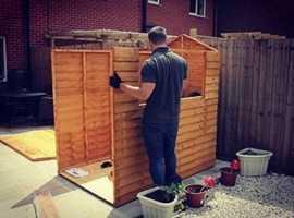 Garden Maintenance Shed Erection