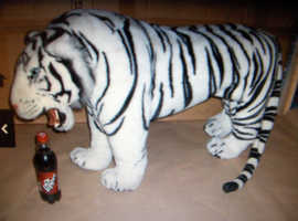 White Siberian Tiger - Standing Plush Soft Toy. - (very large)