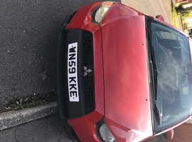 Mitsubishi Colt, 2009 (59) Red Hatchback, Manual Petrol, 88,000 miles