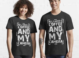 All I Need Is Coffee And My Camera Gift for Photographer. Essential T-Shirt