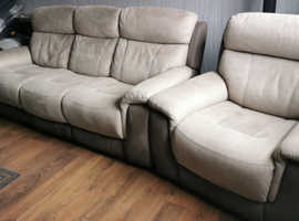 Recliner sofa Chair and Foot stool