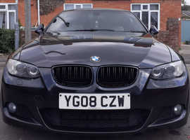 BMW 3 Series, 2008 (08) Black Coupe, Automatic Diesel, 121,322 miles