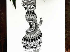 pencil art with the classical dancer.Dancer refersher your mind,makes you confident,kills the negativiy with you.