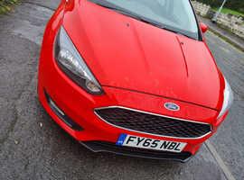 Ford Focus, 2015 (65) Red Hatchback, Manual Diesel, 61,867 miles