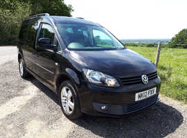 VW Caddy C20 WAV automatic 5 seats plus wheelchair low miles easy to use ramp, free delivery px welcome