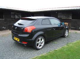 Kia Pro Ceed 2l Sport, 2008 (57) Black Hatchback, Manual Diesel, 112,399 miles