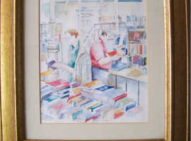 A Charming picture of a working Library