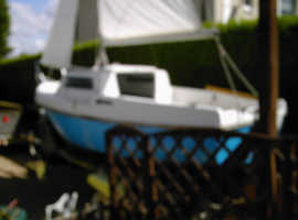 14ft6 sailing/fishing boat with trailer