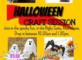 Halloween Children's Craft Event held in The Rigby Suite, The Metrodome Barnsley