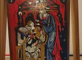 Naive Art -  Naive Art -  painting on wood panel