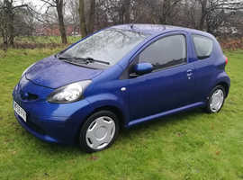Toyota Aygo, 2008 (08) Blue Hatchback, Manual Petrol, 116,756 milesTOYOTA AYGO VVT-i 2008 REG, LONG MOT, ONLY £20 A YEAR TO TAX, NICE SPEC WITH BLUETO