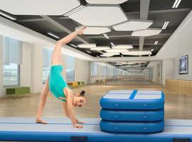 COSTWAY Inflatable Air Track Gymnastics Floor Mat with Pump (SP36333)