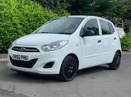 Hyundai i10, 2012 (62) White Hatchback, Manual Petrol, 40,000 miles