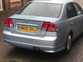 Honda Civic, Hybrid 2005 (05) Silver Saloon, Manual Petrol, 180,000 miles