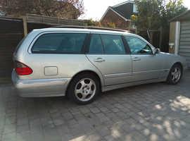 Mercedes E Class, 2001 (51) Silver Estate, Automatic Diesel, 1,500,000 miles