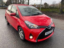 Toyota Yaris, 2015 (15) red hatchback, Cvt Hybrid, 99965 miles