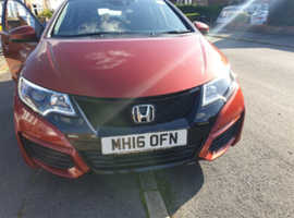 Honda Civic, 2016 (16) red estate, FSH,Diesel, 60,695 miles