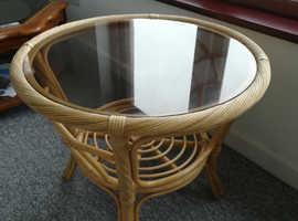 bamboo effect coffee table