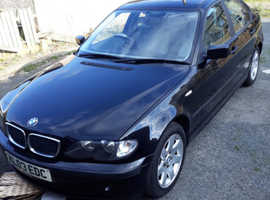 BMW 3 Series, 2003 (03) Black Saloon, Manual Petrol, 145,000 miles