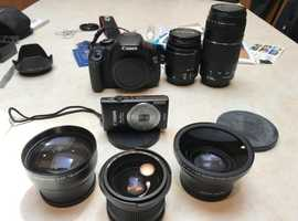 Canon T3i 600D plus Elph and Lowe Pro Pack