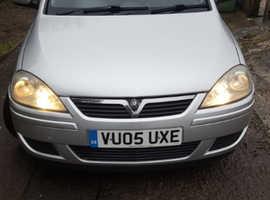 Vauxhall Corsa, 2005 (05) Silver Hatchback, Manual Diesel, 151,641 miles