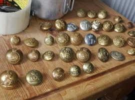 Vintage brass buttons job lot £15