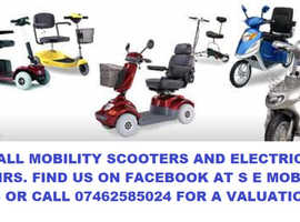 Wanted your Mobility scooter or Electric Wheelchair