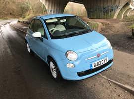 Fiat 500, 2013 (13) blue hatchback, Manual Petrol, 82,000 miles