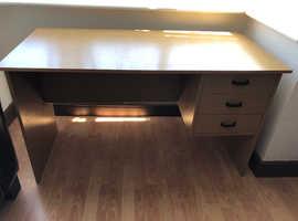 Study Desk, light wood, sturdy -reduced price