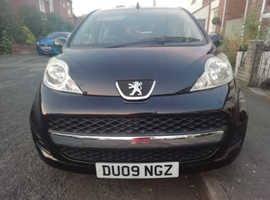Peugeot 107, 2009 (09) Black Hatchback, Manual Petrol, 84,173 miles