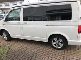 VW t6 Diesel 67 plate colour coded white Fully fitted out camper van.