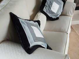 cream sofa x2 double i single