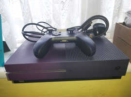 Fornite edition purple xbox one s and a sound system