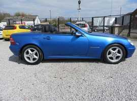 Mercedes 230 Slk 2003 (53) Blue Convertible Automatic Petrol 109,000 miles 8 service stamps June 2019 MOT