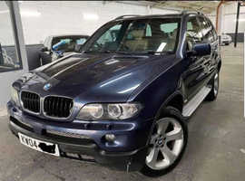 BMW X5, 2004 (04) Blue Estate, Automatic Diesel, 188,228 miles