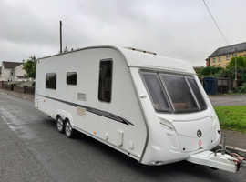 swift conqueror twin axle 4 berth 2007 family caravan with full awning