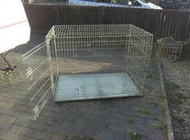 Extra large metal foldable dog cage