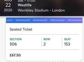 Westlife Tickets 22/08/2020