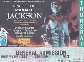 Michael Jackson Wembley Concert 1997 memorabilia