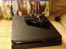 PS4 Console with 10 games & controler
