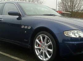 Maserati Quattroporte, 2007 (07) Blue Saloon, Automatic Petrol, 72,000 miles