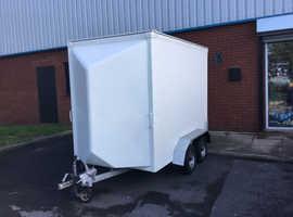 Twin Axle Box Trailer 2.6m x 1.45m x 1.85m with Roller Shutter Rear Door