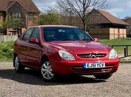 Citroen Xsara, 2001 (51) Red Hatchback, Manual Petrol, 99,214 miles, LONG MOT NOV 21