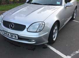 Mercedes Slk, 2004 (04) Silver Convertible, Automatic Petrol, 68,000 miles