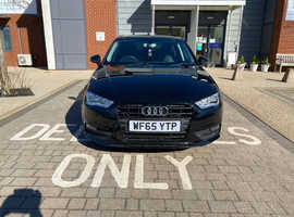 Audi A3, 2015 (65) Black Hatchback, Manual Petrol, 48,358 miles