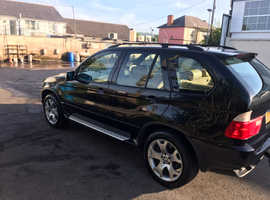 BMW X5, 2002 (52) Black Estate, Automatic Petrol, 80,500 miles