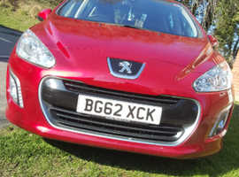 Peugeot 308, 2012 (62) Red Hatchback, Manual Diesel, 41,000 miles