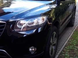 Hyundai Santa Fe, 2012 (12) Black Estate, Manual Diesel, 131,045 miles