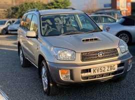 Toyota Rav4, 2002 (52) Beige Estate, Manual Diesel, 107,000 miles