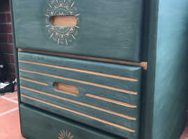 Annie Sloan Painted American Made Night/Bedside Table.